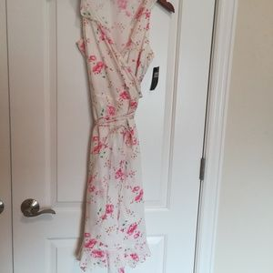 Ralph Lauren Sport  White Floral Wrap Around Dress